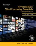 Keyboarding and Word Processing Essentials, Lessons 1-55