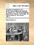 Christian Submission to Civil Government a Discourse Preached on January 30, 1780, at the Me...