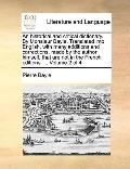 Historical and Critical Dictionary by Monsieur Bayle Translated into English, with Many Addi...