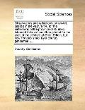 Observations and Reflections, on an Act, Passed in the Year, 1774, for the Settlement, of th...