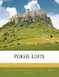 Poesie Edite (Italian Edition)