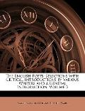 The English Poets: Selections with Critical Introductions by Various Writers and a General I...