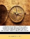 A Dissertation On the Languages, Literature, and Manners of Eastern Nations: Originally Pref...