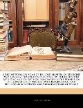A List of Books by Some of the Old Masters of Medicine and Surgery: Together with Books On t...