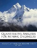 Quantitative Analysis for Mining Engineers