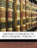 Oeuvres Complètes de Montesquieu