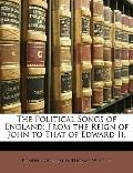 Political Songs of England : From the Reign of John to That of Edward Ii