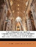 International Critical Commentary on the Holy Scriptures of the Old and New Testaments : Eph...