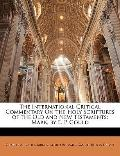 International Critical Commentary on the Holy Scriptures of the Old and New Testaments : Mar...