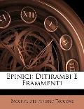 Epinici: Ditirambi E Frammenti (Italian Edition)