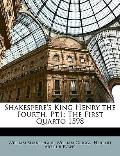 Shakespere's King Henry the Fourth, Pt.1: The First Quarto 1598