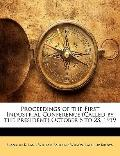Proceedings of the First Industrial Conference October 6 To 23 1919