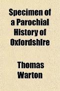 Specimen of a Parochial History of Oxfordshire