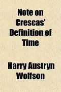 Note on Crescas' Definition of Time