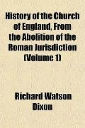 History of the Church of England, From the Abolition of the Roman Jurisdiction (Volume 1)