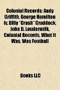 Colonial Records : Andy Griffith, George Hamilton Iv, Billy Crash Craddock, John D. Loudermi...