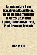American Law Firm Executives : David Boies, David Huebner, William H. Gates, Sr. , Martin Li...