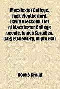 Macalester College : Jack Weatherford, David Bressoud, List of Macalester College people, Ja...