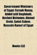 Government Ministers of Egypt : Education Ministers of Egypt, Finance Ministers of Egypt, Fo...