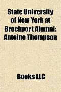 State University of New York at Brockport Alumni : Antoine Thompson