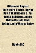 Oklahoma Baptist University : David L. Boren, David W. Whitlock, C. Pat Taylor, Bob Agee, Ja...