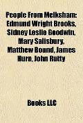 People from Melksham : Edmund Wright Brooks, Sidney Leslie Goodwin, Mary Salisbury, Matthew ...