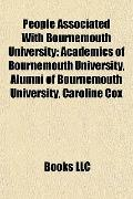 People Associated with Bournemouth University : Academics of Bournemouth University, Alumni ...