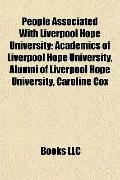 People Associated with Liverpool Hope University : Academics of Liverpool Hope University, A...