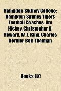Hampden-Sydney College : Hampden-Sydney Tigers Football Coaches, Jim Hickey, Christopher B. ...