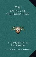 Sayings of Confucius 1920
