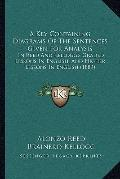 Key Containing Diagrams of the Sentences Given for Analysis : In Reed and Kellogg's Graded L...
