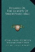 Remarks on the Sonnets of Shakespeare