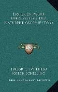 Erster Entwurf Eines Systems der Naturphilosophie
