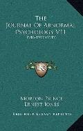 Journal of Abnormal Psychology V11 : 1916-1917 (1917)
