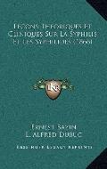Lecons Theoriques et Cliniques Sur la Syphilis et les Syphilides