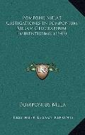 Pomponij Melae Castigationes in Pomponium Melam Geographum Eminentissimu