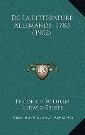 De la Litterature Allemande 1780