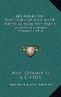 Beginselen Van Handelsrecht Volgens de Nederlandsche Wet, Part : Handelsrecht, Handel, Hande...