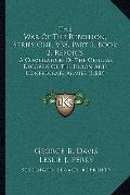 War of the Rebellion, Series One, V38, Part 3, Book 2, Reports : A Compilation of the Offici...