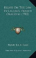 Essays on the Law in Cicero's Private Orations