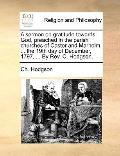 Sermon on Gratitude Towards God, Preached in the Parish Churches of Castor and Marholm, the ...
