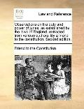 Observations on the Duty and Power of Juries, As Established by the Laws of England, Extract...