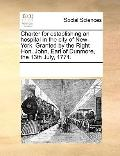 Charter for Establishing an Hospital in the City of New-York Granted by the Right Hon John, ...