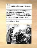 Tentamen Medicum Inaugurale, de Spontanea Sanguinis Separatione : Quam ... pro gradu doctora...