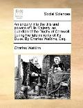 Enquiry into the Title and Powers of His Majesty, As Guardian of the Duchy of Cornwall, Duri...