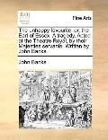 Unhappy Favourite : Or, the Earl of Essex. A tragedy. Acted at the Theatre Royal, by their M...
