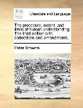 Procedure, Extent, and Limits of Human Understanding the Third Edition with Corrections and ...