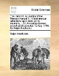 Irenarch : Or, Justice of the Peace's manual. II. Miscellaneous reflections upon laws, polic...