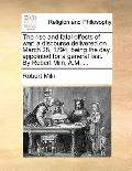 Rise and Fatal Effects of War : A discourse delivered on March 28, 1794; being the day appoi...
