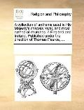Collection of Anthems Used in His Majesty's Chapels Royal, and Most Cathedral Churches in En...